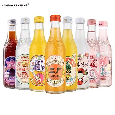 汉口二厂 含气果汁饮料 全家福8口味8瓶装