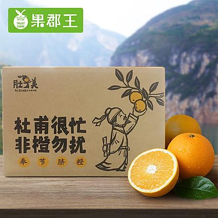 果郡王 (预售2月8号开始发货)重庆奉节肚子美脐橙5斤装 80#左右 新鲜水果