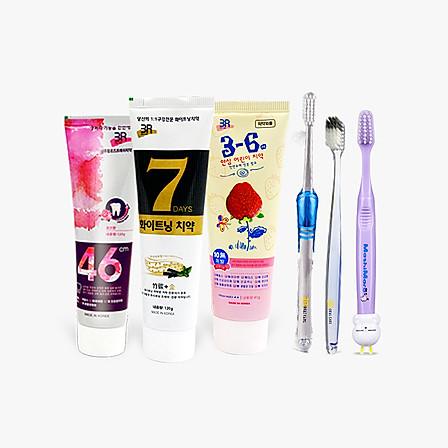 3R 牙膏牙刷全家护牙六件套