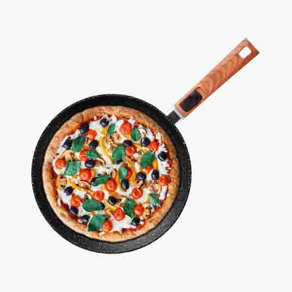 JoyClad乔克莱德 可脱卸手柄麦饭石平底锅煎锅不粘锅 直径28cm  WOK160004