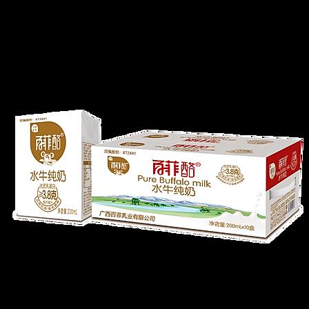 百菲酪 水牛纯牛奶200ml*10盒