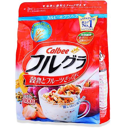 卡乐比Calbee 水果果仁谷物营养麦片800G 日本进口