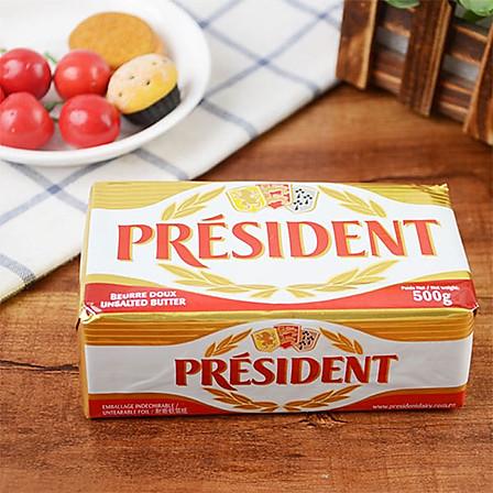 总统黄油 法国原装进口 食用动物性淡味发酵黄油块500g