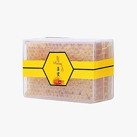 舌尖上Honey 原生态新疆黑蜂山花蜂蜜 巢蜜 250g/盒 17年8月新蜜 成熟封盖蜜