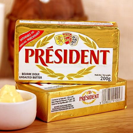 总统 无盐黄油 200g/个