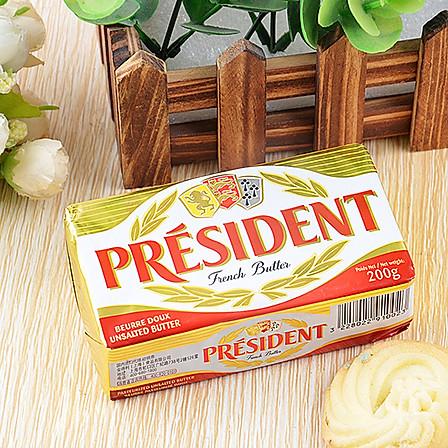 烘焙必备 总统牌 无盐黄油块 200g