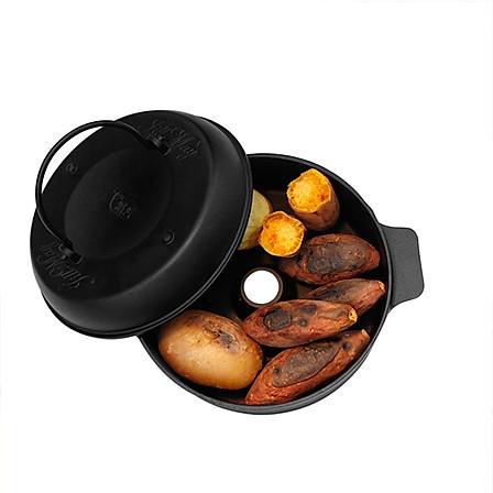 铸味 烤薯锅22cm 土豆玉米烤锅 多功能燃气灶专用
