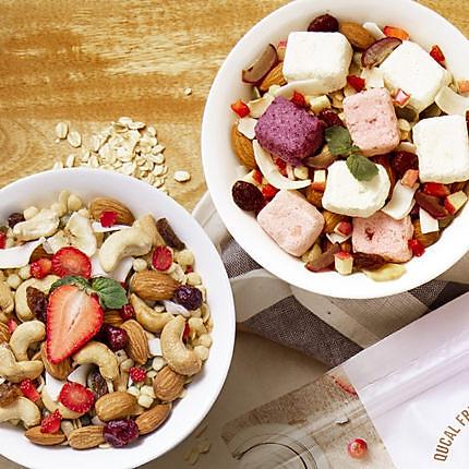 【套餐买一送一 拍1发4袋】趣卡QUCAL水果酸奶燕麦脆420g+坚果燕麦脆420g