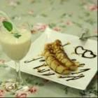 20111202    十分钟让香蕉变身甜品:蜜汁煎香蕉   香蕉杏仁奶昔 ...